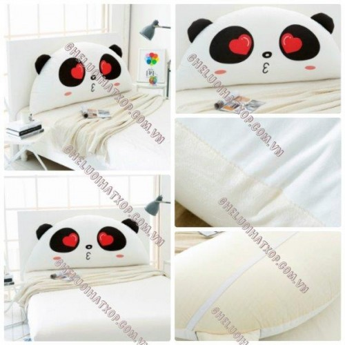 Gối tựa đầu giường hình Panda Love GĐG09