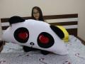 Gối tựa đầu giường hình thú Panda Love GĐG09 (2)