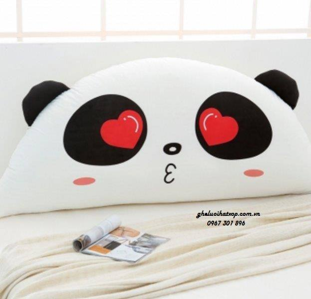 Gối tựa đầu giường hình thú Panda Love GĐG09