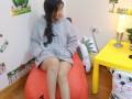 Ghế lười hạt xốp dáng sofa hình Hà Mã GL S083 (2)