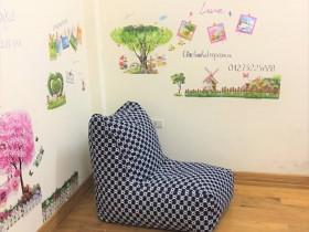Ghế lười hạt xốp dáng sofa kẻ caro GL SF005 (1)