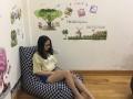 Ghế lười hạt xốp dáng sofa kẻ caro GL SF005 (2)