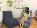 Ghế lười hạt xốp dáng sofa kẻ caro GL SF005 (4)
