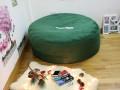 Ghế lười hạt xốp dáng tròn da lộn xanh lá cây GL T098 (4)