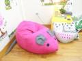 Ghế lười hạt xốp hình chuột hồng GL C081 (2)