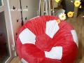 Ghế lười hạt xốp hình quả bóng vải nhung GL B002 (2)