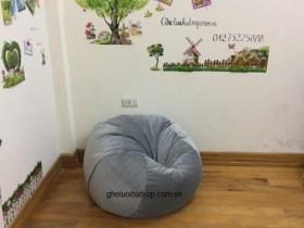 Ghế lười hạt xốp hình tròn chất nhung T12 (3)