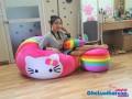 Ghế lười hạt xốp hình tròn phối 7 màu-Kitty GL T095 (4)