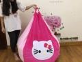 ghế lười hạt xốp dáng lê nhung hồng Kitty GL L064 (5)