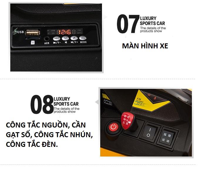 xe ô tô điện trẻ em WXE-888 bộ phận 3