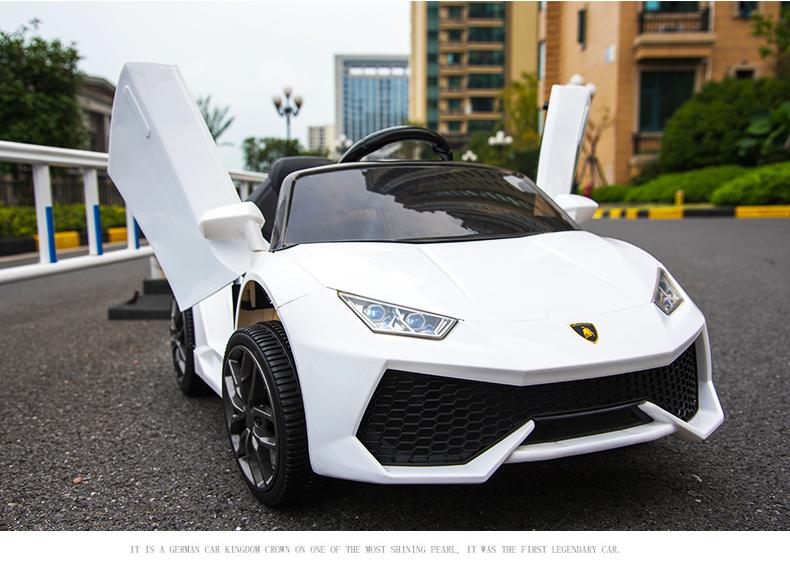 xe ô tô điện trẻ em WXE-888 trắng