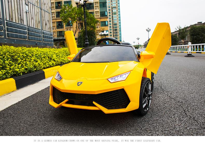 xe ô tô điện trẻ em WXE-888 vàng 2