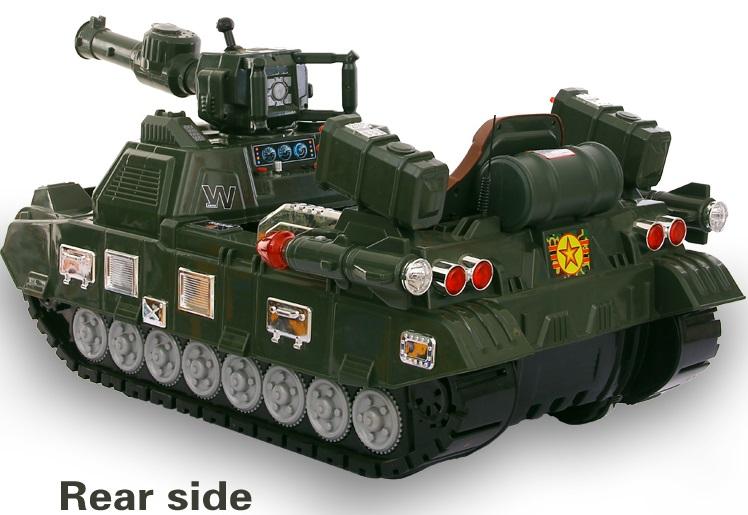 xe tăng trẻ em MY-99 đằng sau