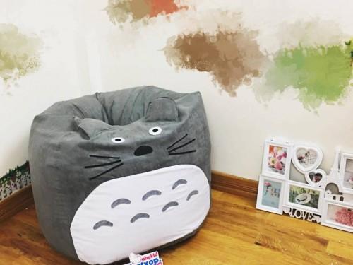 Ghế lười hạt xốp dáng lê Totoro da lộn GL L106 (1)