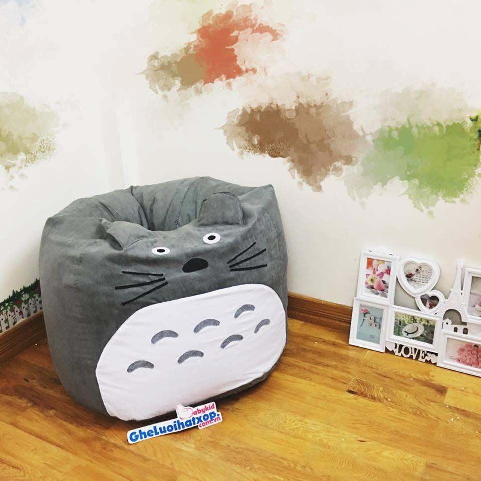 Ghế lười hạt xốp dáng lê Totoro da lộn GL L106