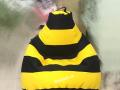 Ghế lười hạt xốp dáng lê ong vàng GL L111 (1)
