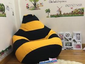 Ghế lười hạt xốp dáng lê ong vàng GL L111 (2)