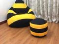 Ghế lười hạt xốp dáng lê ong vàng GL L111 (5)