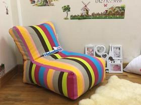 Ghế lười hạt xốp dáng sofa 7 sắc cầu vồng GL S107 (1)
