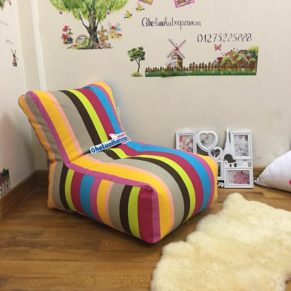 Ghế lười hạt xốp dáng sofa 7 sắc cầu vồng GL S107