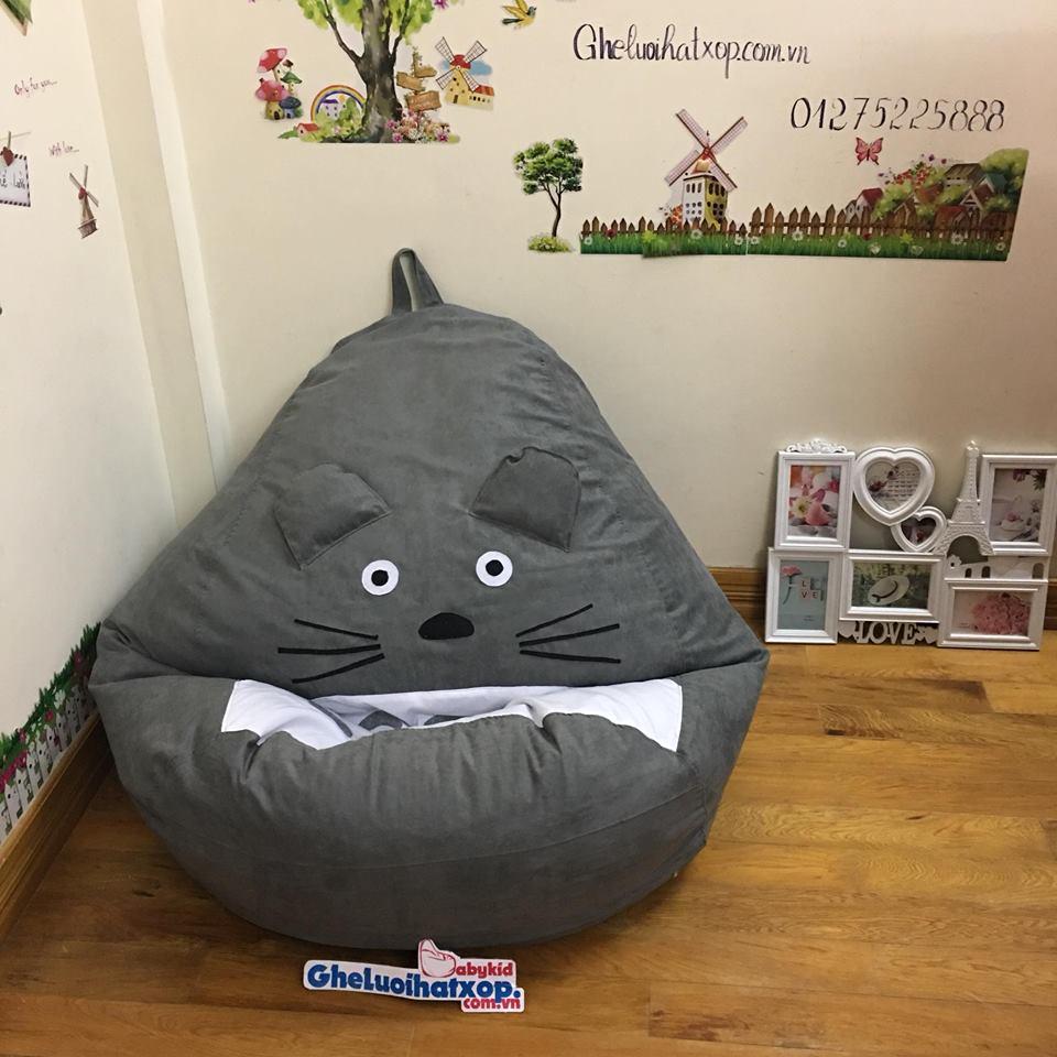 Ghế lười hạt xốp hình Totoro da lộn GL L106