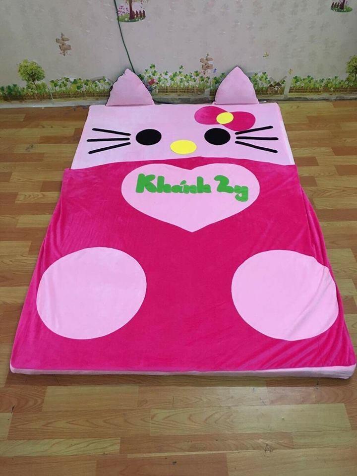Nệm cao su cao cấp 3cm hình Mèo Kitty