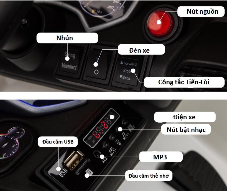 xe ô tô điện trẻ em QLS-5188 chân ga