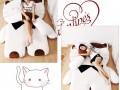 Đệm thú nhồi bông hình Mèo trắng NTB 216 (3)