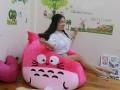 Ghế hạt xốp hình Totoro màu hồng chất nhung GL L128 (2)