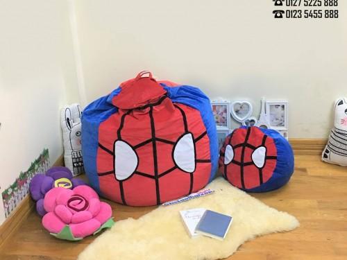Ghế lười dáng lê hình Spider Man chất nhung GL L127 (1)