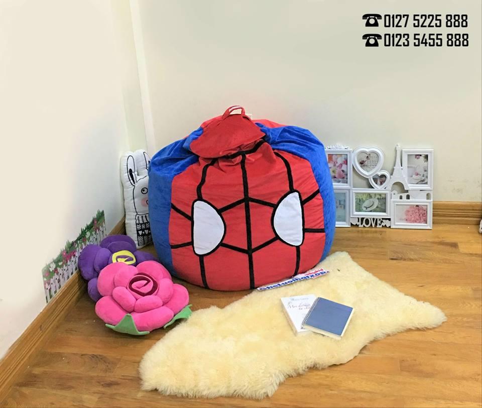 Ghế lười dáng lê hình Spider Man chất nhung GL L127
