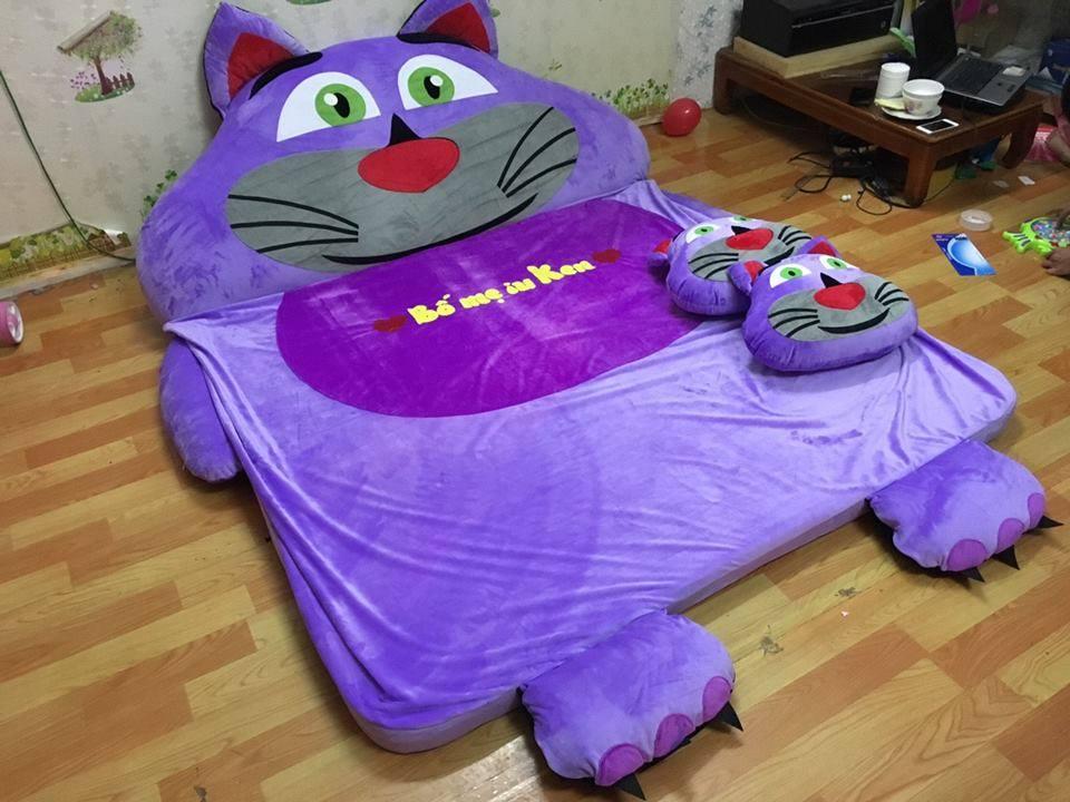 Nệm cao su non cao cấp hình Mèo Tôm