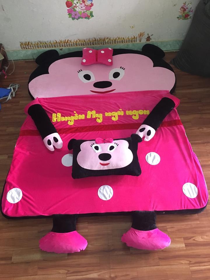 Nệm hình thú cao cấp ruột cao su non hình Minnie