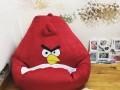 Ghế lười hạt xốp chất da lộn hình Angry Bird GL L136 (2)