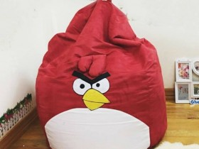 Ghế lười hạt xốp chất da lộn hình Angry Bird GL L136 (5)