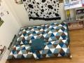 Set ghế lười hạt xốp sofa chữ nhật kẻ tam giác thô hàn SF010 (2)