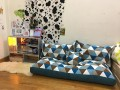 Set ghế lười hạt xốp sofa chữ nhật kẻ tam giác thô hàn SF010 (4)