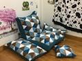 Set ghế lười hạt xốp sofa chữ nhật kẻ tam giác thô hàn SF010 (6)