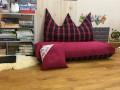 Bộ ghế hạt xốp sofa chữ nhật caro kẻ đỏ SF015 (3)