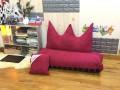 Bộ ghế hạt xốp sofa chữ nhật caro kẻ đỏ SF015 (4)