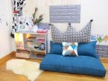 Bộ ghế hạt xốp sofa chữ nhật màu xám xanh SF017 (1)