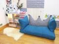 Bộ ghế hạt xốp sofa chữ nhật màu xám xanh SF017 (3)