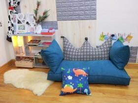 Bộ ghế hạt xốp sofa chữ nhật màu xám xanh SF017 (5)