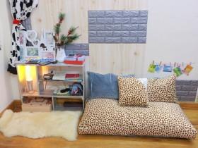 Ghế lười sofa chữ nhật chất nhung màu đốm-xám SF018 (5)