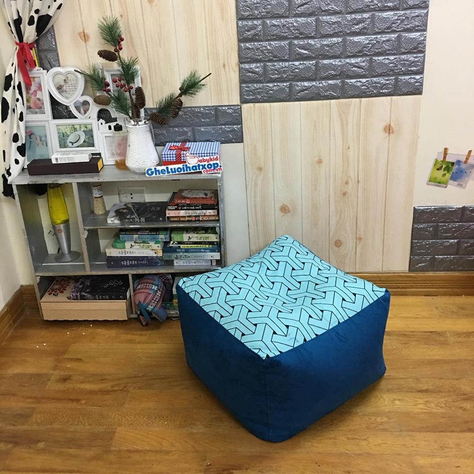 Ghế lười hạt xốp hình trụ vuông