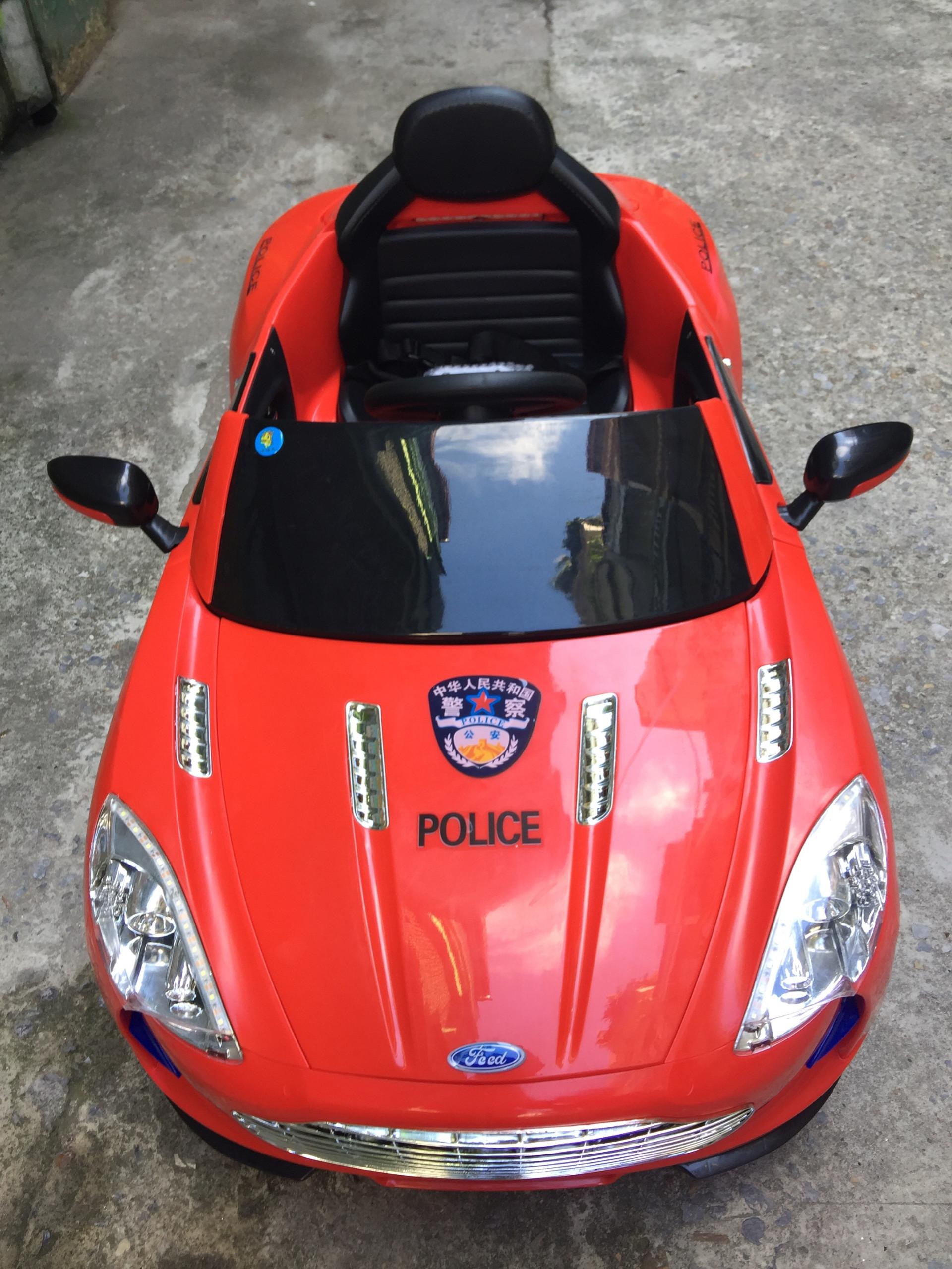 xe ô tô điện trẻ em police 999 16