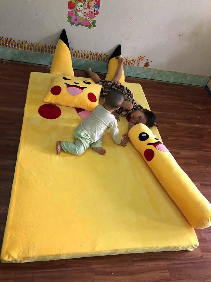 Nệm hình thú ruột cao su 3cm hình Pikachu
