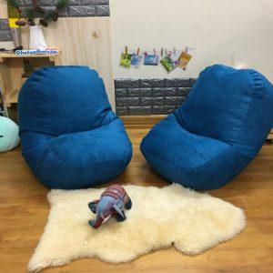 Goi-xop-dang-oval-size-M-da-lon-mau-xanh-co-vit-GL-O11