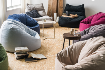 Tạo điểm nhấn mới cho nội thất nhà ở cùng với ghế lười hạt xốp Baykid