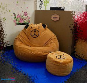 Bo-ghe-luoi-hat-xop-chat-nhung-hinh-gau-vang-GL-L194